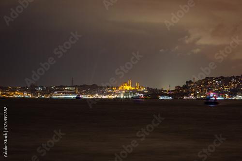 Night Bosporus Poster