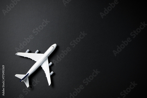 Miniature airplane isolated
