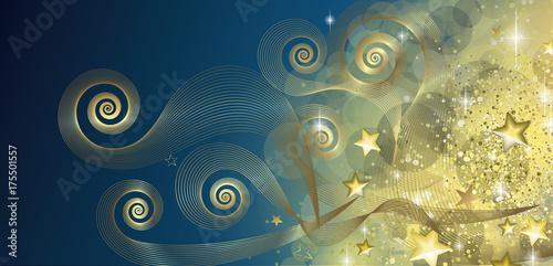 Fridge magnet Fairy blue and gold banner