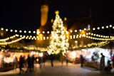 christmas market at tallinn old town hall square - 175505741