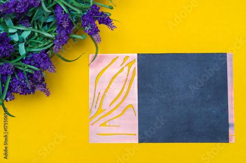Fotobehang Lavendel Flor de lavanda e copy space
