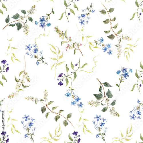 Watercolor floral pattern - 175507358