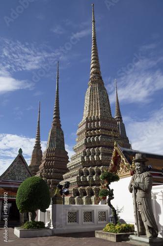 Pagodas at Wat Pho Poster
