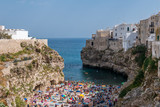 Polignano a Mare (Puglia, Italy) - The famous sea town in province of Bari, southern Italy. The village rises on rocky spur over the Adriatic Sea, and is known tourist attraction. - 175515741