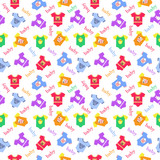 seamless pattern for children clothes