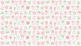 merry christmas icon pattern elements isolated background - 175529959