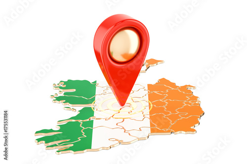 Map Of Ireland 3d.Map Pointer On The Map Of Ireland 3d Rendering Buy Photos Ap