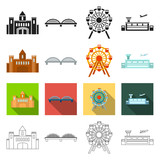 take-off, infrastructure, travels and other web icon in different style.plane, airport, strip, icons in set collection. - 175540526