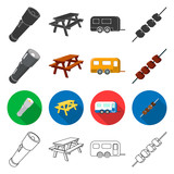 tourism, transportation, tools and other web icon in different style. meat, picnic, hiking icons in set collection. - 175540534