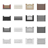 Fencing, palisade, paling and other web icon in cartoon style.Fence, rack, span, icons in set collection. - 175540784