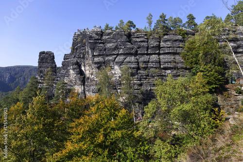 Papiers peints Gris traffic Autumn Landscape in the Czech Switzerland, Czech Republic