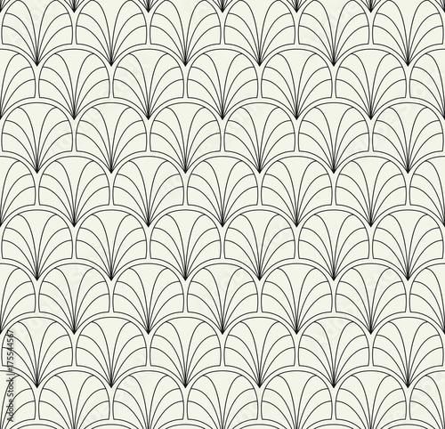 Naklejka Vector Floral Art Nouveau Seamless Pattern