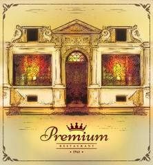 Decorative element for a Premium restaurant logo