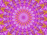 Kaleidoscope Mandala in purple, white, and yellow - 175546179