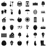 Seed icons set, simple style - 175546551