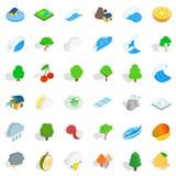 Weather icons set, isometric style - 175547776