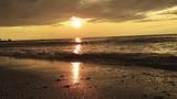 Cinematic Sepia sunset on lake erie beach - 175548597