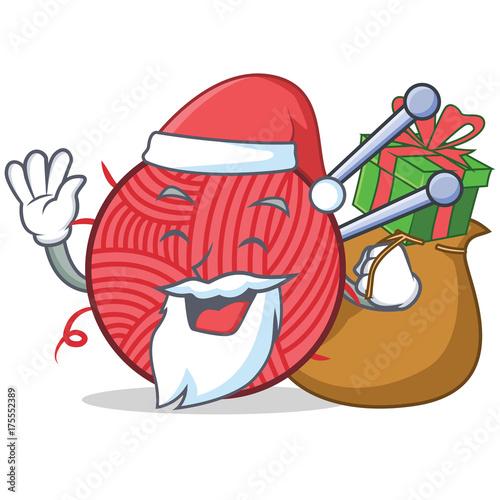 Staande foto Bol Santa knitting character cartoon style