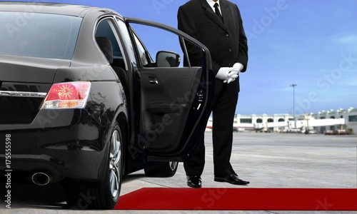Limo driver waiting at the airport