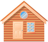 Small house log cabin vector image - 175556508