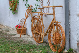 Decorative bike made from twigs and wicker - 175558970
