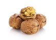 Walnuts isolated on white background. With clipping path. - 175561144