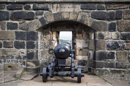 Aluminium Oude verlaten gebouwen edinburgh castle scotland