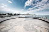 empty concrete footpath on sea - 175562928