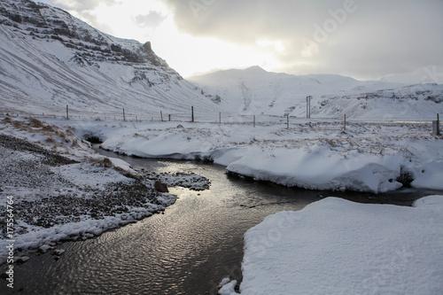 Keuken foto achterwand Donkergrijs Snowy in Iceland
