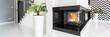 Quadro Black modern fireplace