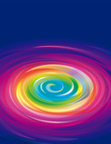 Colorful swirling rainbow abstract background. - 175566160