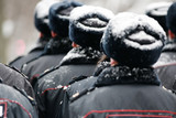 police in formation Russian winter - 175568772