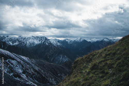 Foto op Aluminium Bleke violet Trip to mountains of Siberia
