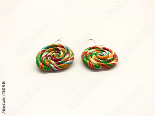 realistic lolly earrings with silver clips Poster