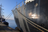 Im Hafen der Hansestadt Rostock. - 175580996