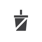 Soft drink icon vector, filled flat sign, solid pictogram isolated on white. Symbol, logo illustration. - 175591951