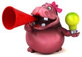 Pink Hippo - 3D Illustration - 175594901