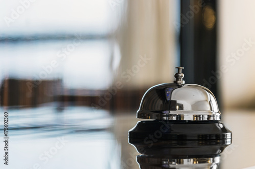 service bell on reception in hotel or restaurant