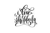i love shopping hand lettering inscription inspiration typograph