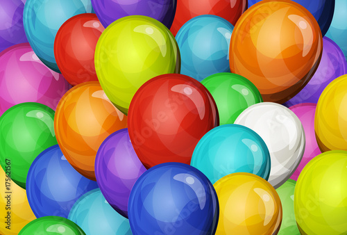 Abstract Party Balloons Background © benchart
