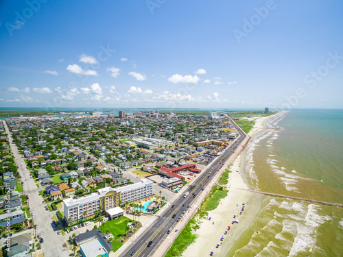 Foto op Canvas Parijs Aerial photo of Galveston Texas