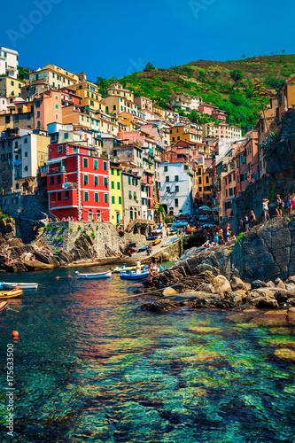 Poster Liguria Riomaggiore in Cinque Terre, Italy