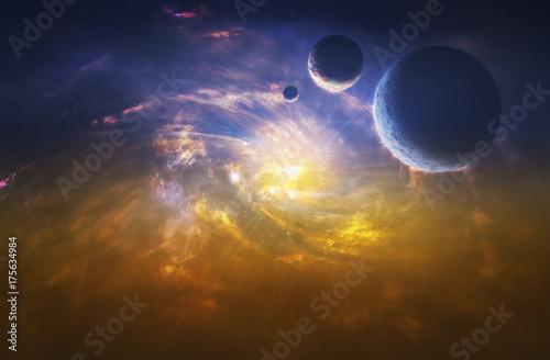 Foto op Canvas UFO Space. Sci fi.