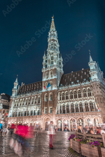 Foto op Aluminium Brussel Brussels by night