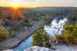 Sunset over the Greenbelt. Austin, TX