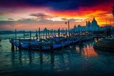 Scenic sunset in Venice, Italy