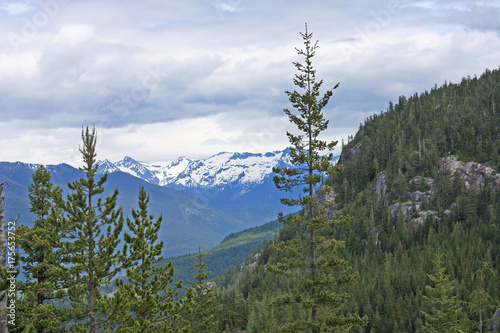 Spoed canvasdoek 2cm dik Canada Coastal Mountains, Canada