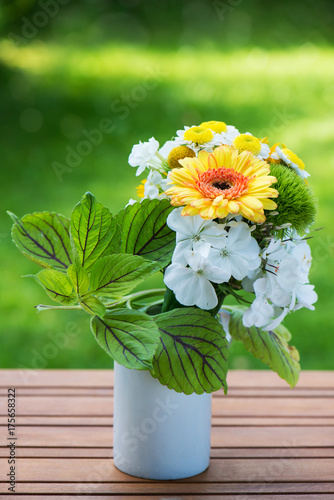 Aluminium Gerbera Blumenstrauß