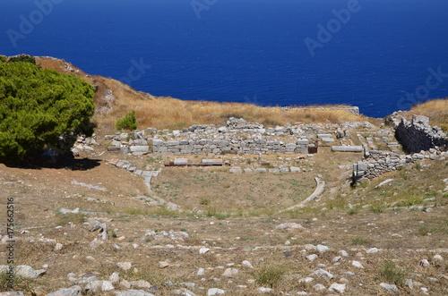 RUINE DE L'ANCIENNE THERA SANTORIN CYCLADES GRECE