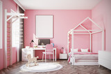 Baby girl s room with a computer - 175663976